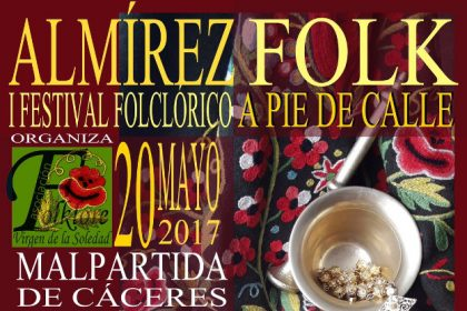 cartel del festival almirez folk