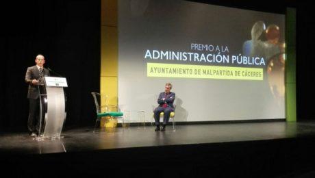 Premio Solidarios 2017 de la ONCE para el Ayuntamiento de Malpartida de Cáceres