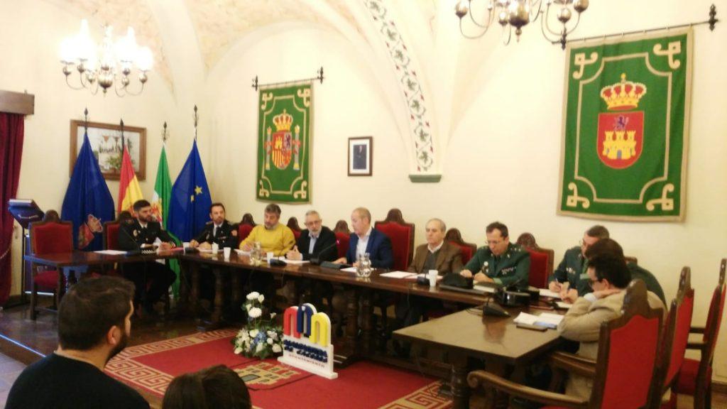 Reunión de la Junta Local de Seguridad en Malpartida de Cáceres