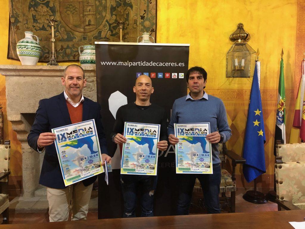 Presentación de la novena Media Maratón Los Barruecos de Malpartida de Cáceres