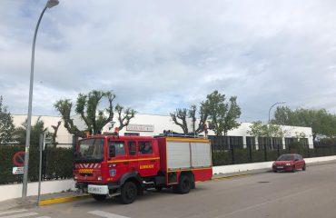 camión del SEPEI en Malpartida de Cáceres