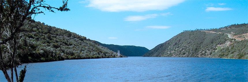 El Río Tajo desde Herrera de Alcántara